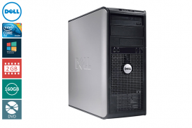 DELL 780 TOWER C2D 3,0 E8400 / 2048 MB DDR3 / 160 GB / DVD WIN 7 PRO COA
