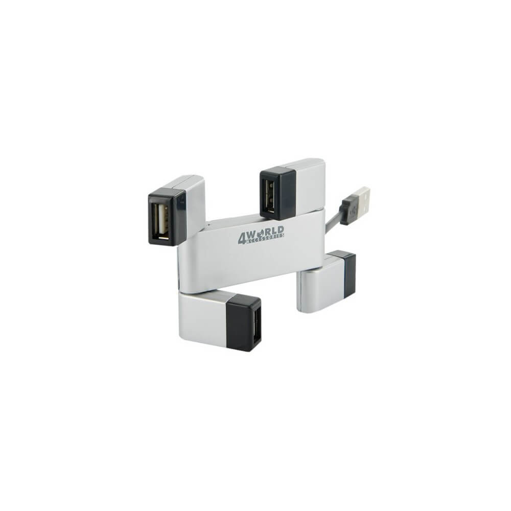 HUB USB 2.0 4WORLD 4-PORTY NOWY