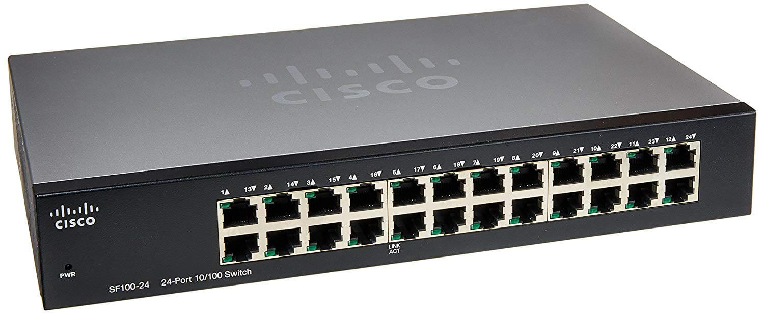 SWITCH CISCO SF100-24 24 PORTY 10/100Mbps UŻYWANY