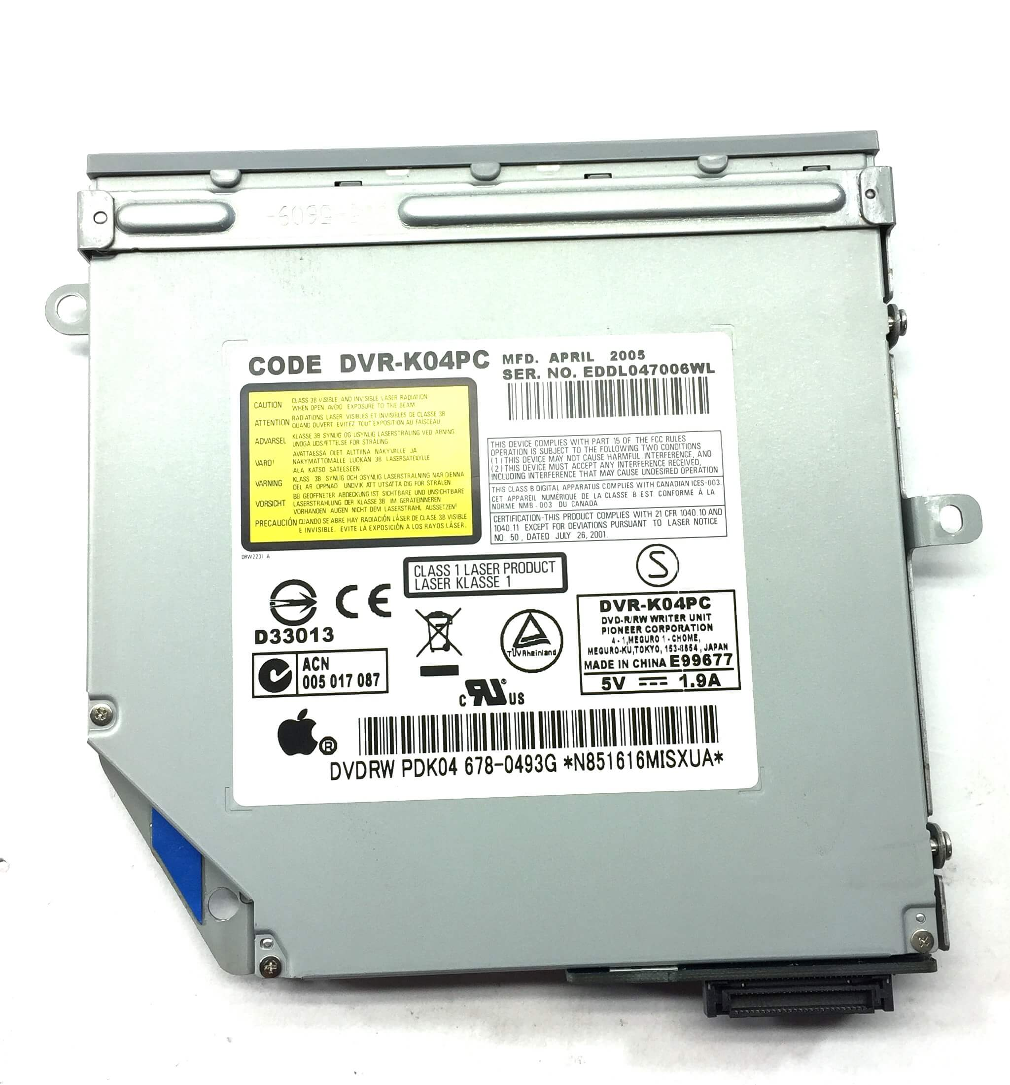 NAPĘD DVD-RW APPLE IMAC INTEL ATA 85JCA 678-0531A