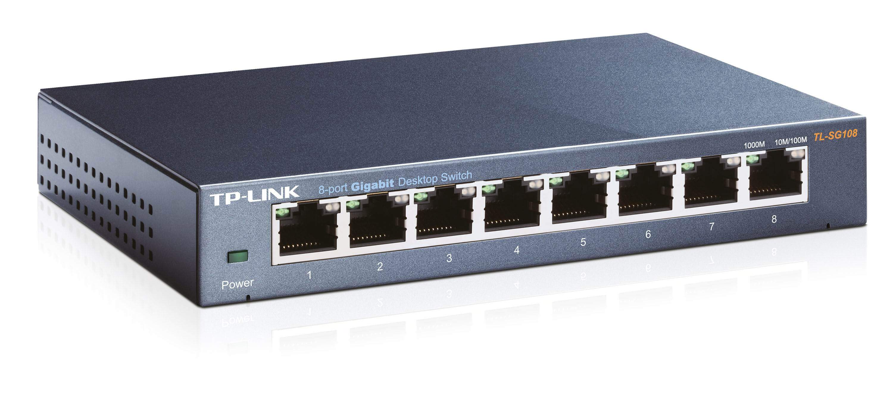 SWITCH TP-LINK TL-SG108 8-PORTÓW