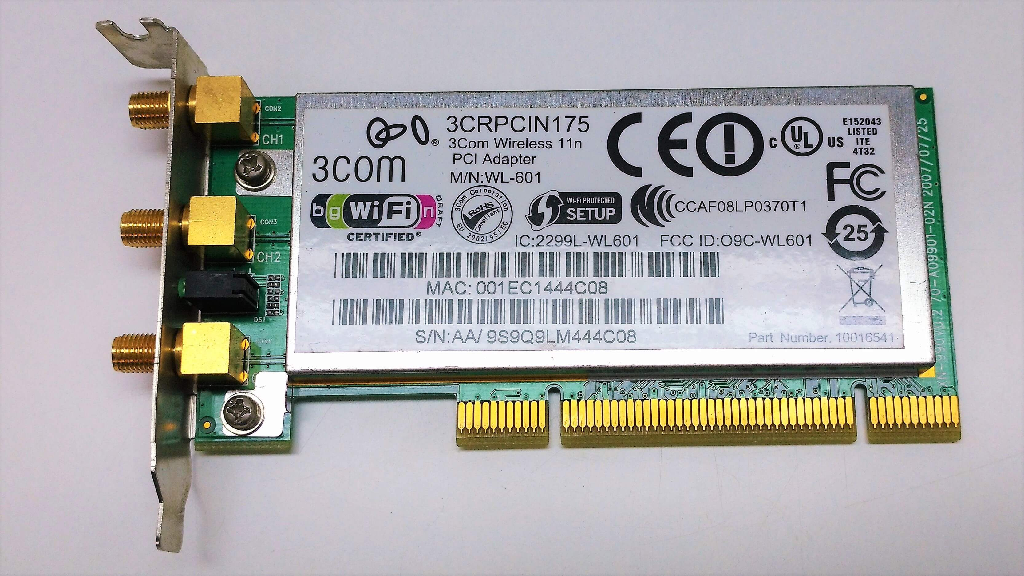 KARTA SIECIOWA WIRELESS 3COM 3CRPCIN175 PCI LOW