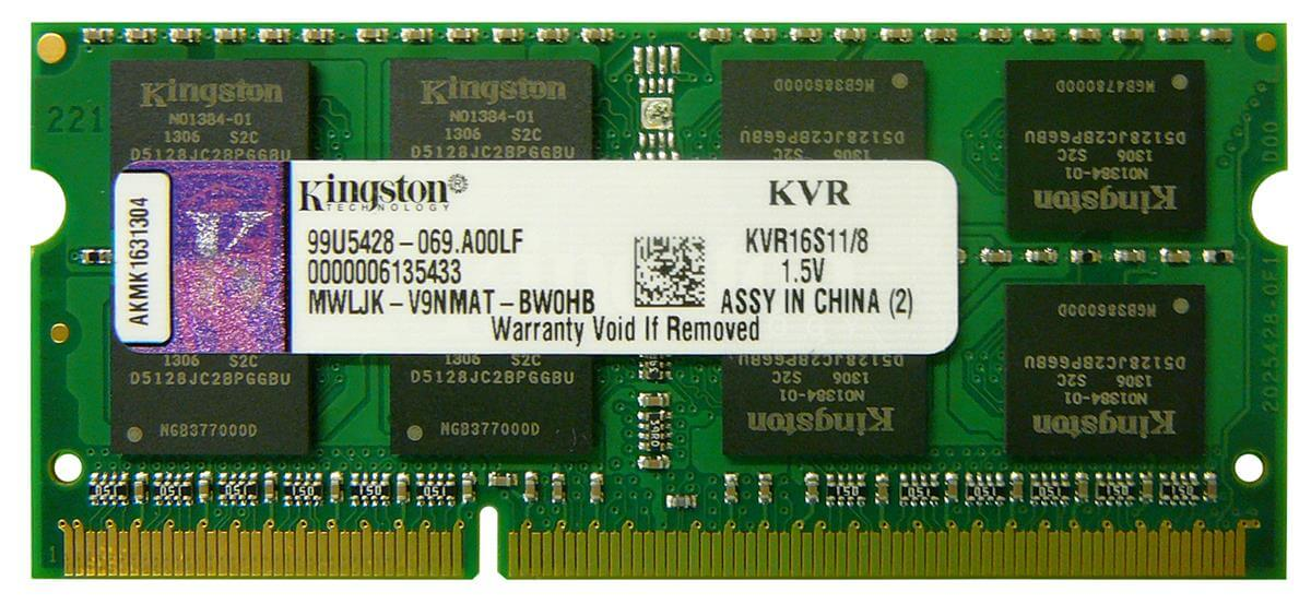 DDR3 8192 MB 1600MHZ CL11 SODIMM KINGSTON NOWE DO LAPTOPA
