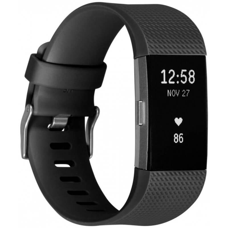 Fitbit Charge 2 - czarny, L