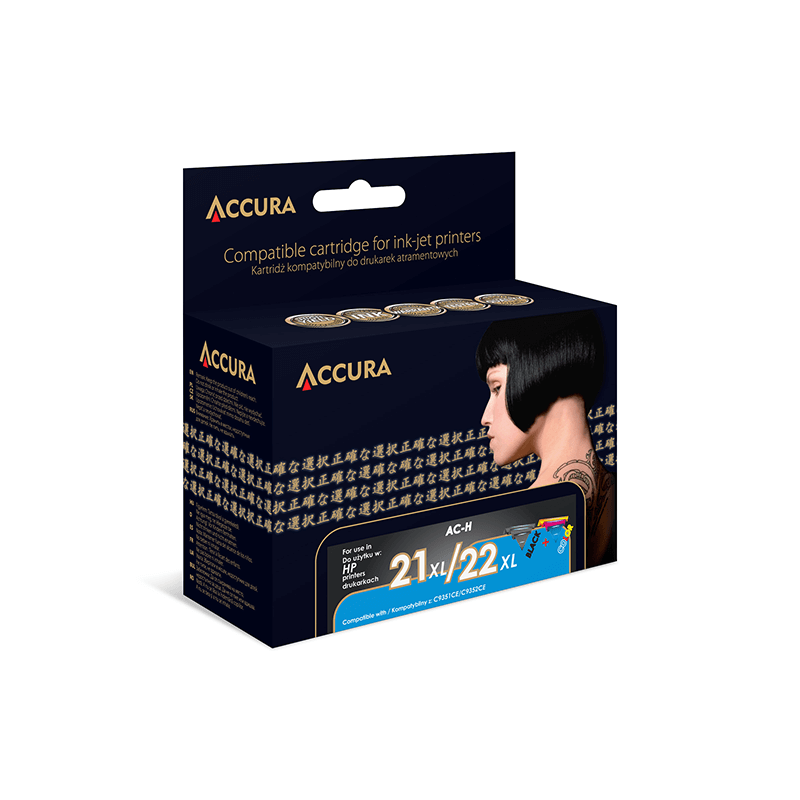 TUSZ ACCURA INK HP 21XL i 22 XL