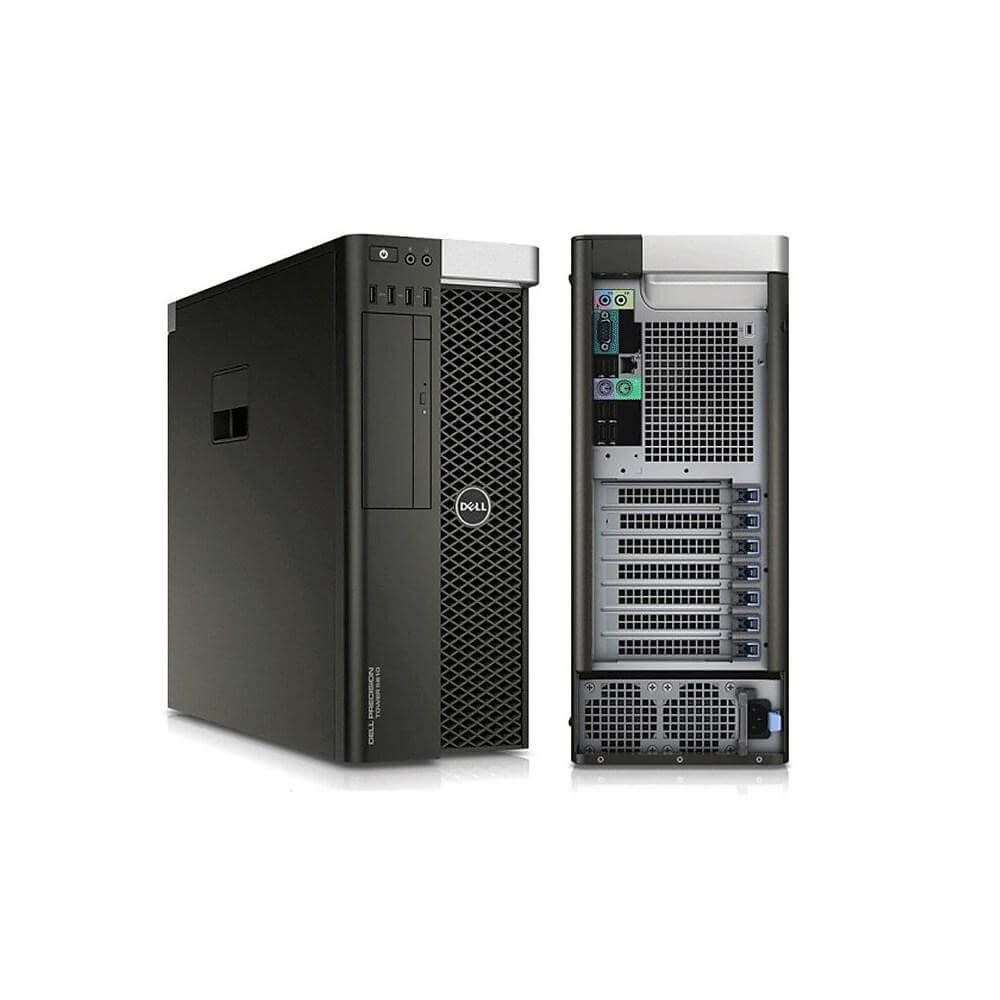 DELL PRECISION T5610 TOWER INTEL XEON E5-2637 V2 3.5 / 16384 MB DDR3 ECC / 240 GB SSD NOWY + 500 GB / DVD / WINDOWS 10 PRO / AMD FIREPRO W7000