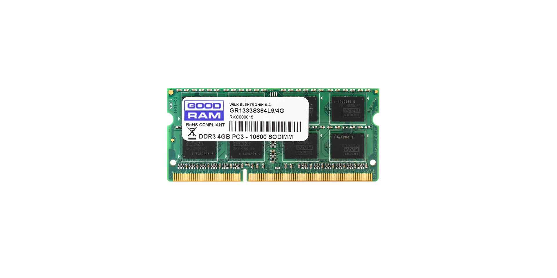 GOODRAM GR1600S3V64L11/8 8192 MB DDR3 1600MHZ CL11 SODIMM NOWA DO LAPTOPA