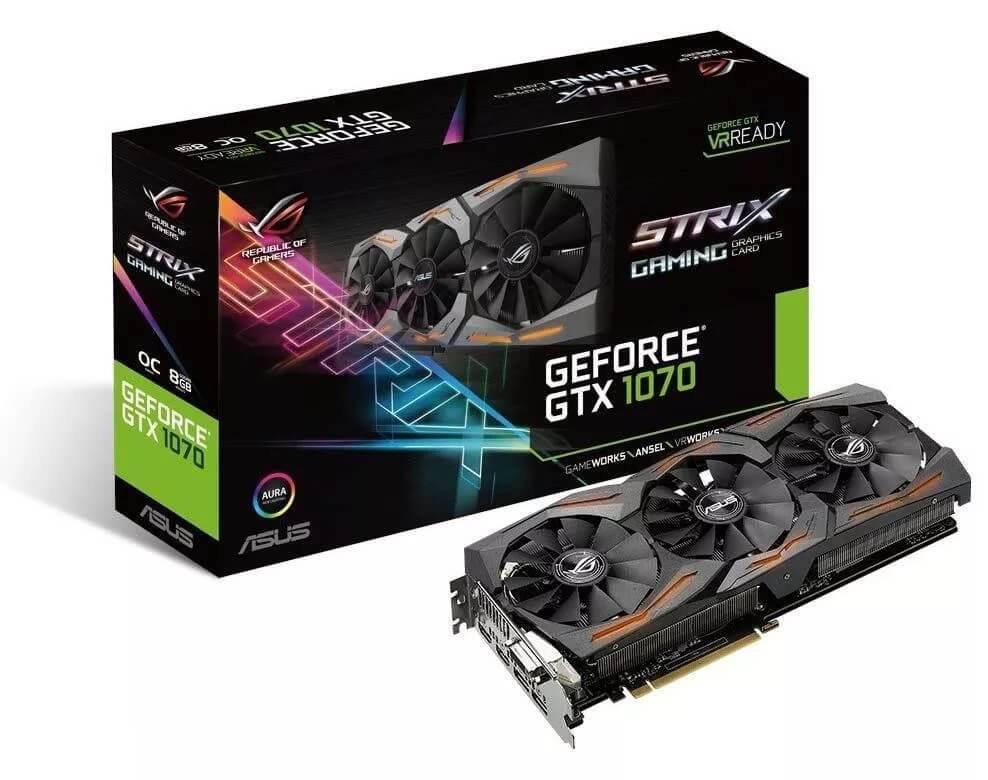 ASUS GEFORCE GTX 1070 ROG STRIX OC 8GB GDDR5 256 BIT OUTLET