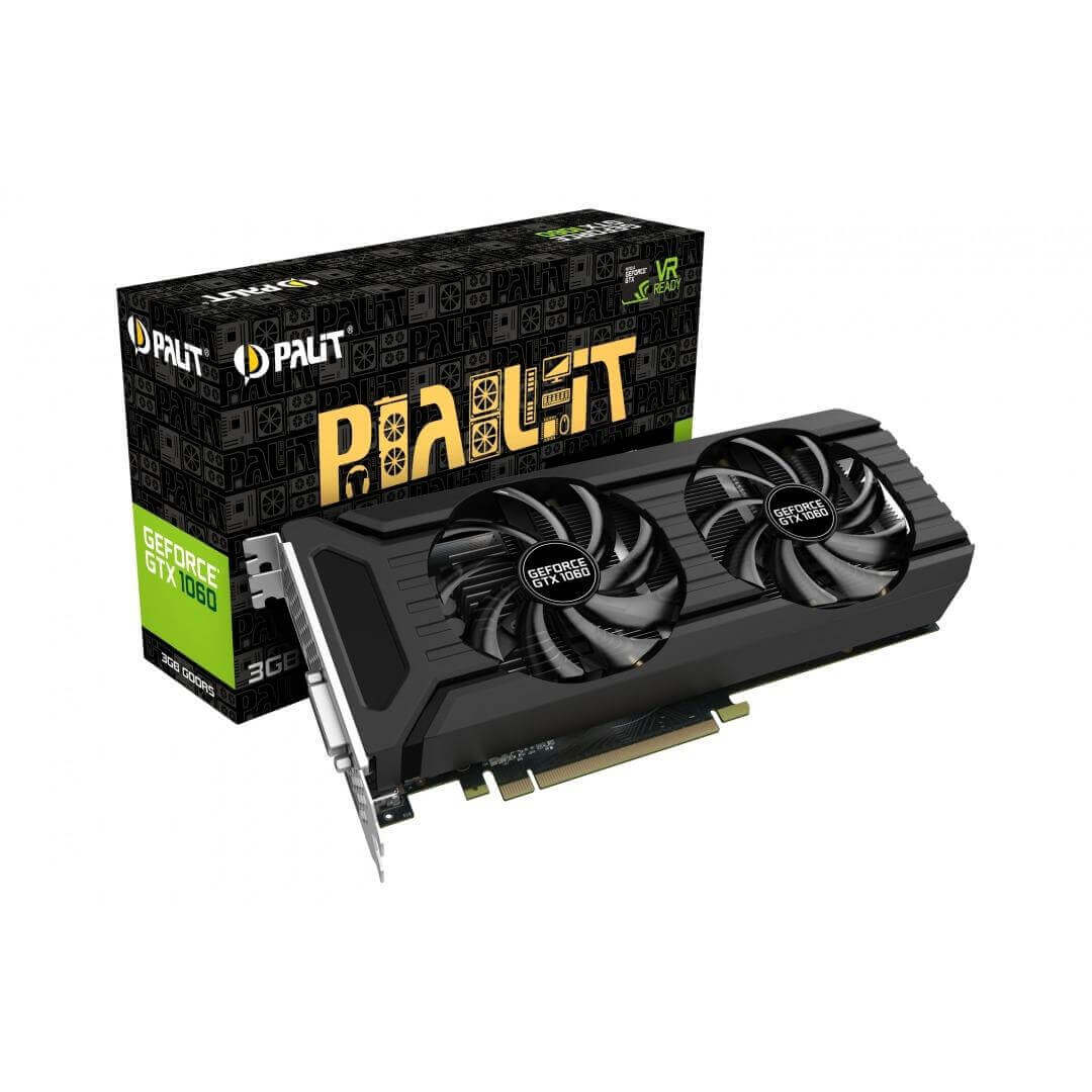 PALIT GEFORCE GTX1060 DUAL FAN PCI-E 3GB GDDR5 192BIT