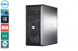 DELL 360 TOWER C2D 2,93 E7500 / 2048 MB / 80 GB / DVD WIN VISTA BUSI COA