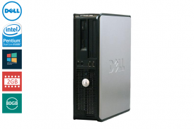 DELL 755 DESKTOP PENTIUM DUAL CORE 1,8 E2160 / 2048 MB / 80 GB / DVD WIN VISTA BUSI COA