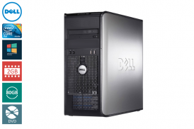DELL 755 TOWER C2D 2,33 E6550 / 2048 MB / 80 GB / DVD SYSTEM WINDOWS 10 REFURBISHED PL