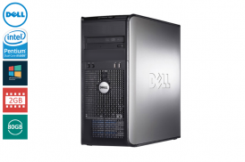 DELL 755 TOWER PENTIUM DUAL CORE 2,2 E2200 / 2048 MB / 80 GB / DVD WIN VISTA BUSI COA