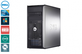 DELL 755 TOWER C2D 2,33 E6550 / 2048 MB / 250GB / DVD SYSTEM WINDOWS 10 REFURBISHED PL