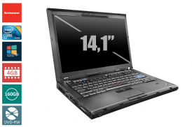 LENOVO THINKPAD T400 C2D 2,4 P8600 / 4096 MB DDR3 / 160 GB / DVD-RW SYSTEM WINDOWS 10 REFURBISHED PL