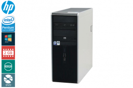 "HP DC7800 TOWER DUAL-CORE 2.0 E2180 / 2048 MB / 80 GB / DVD / 21"" 4:3 1600x1200 LCD WIN 7 HOME REF PL"