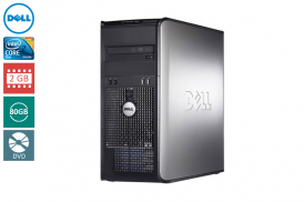 DELL 755 TOWER C2D 2,4 E4600 / 2048 MB / 80 GB / DVD WIN XP PRO COA