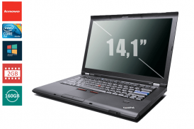LENOVO THINKPAD T400 C2D 2,4 P8600 / 2048 MB DDR3 / 160 GB / DVD-RW WIN VISTA BUSI COA