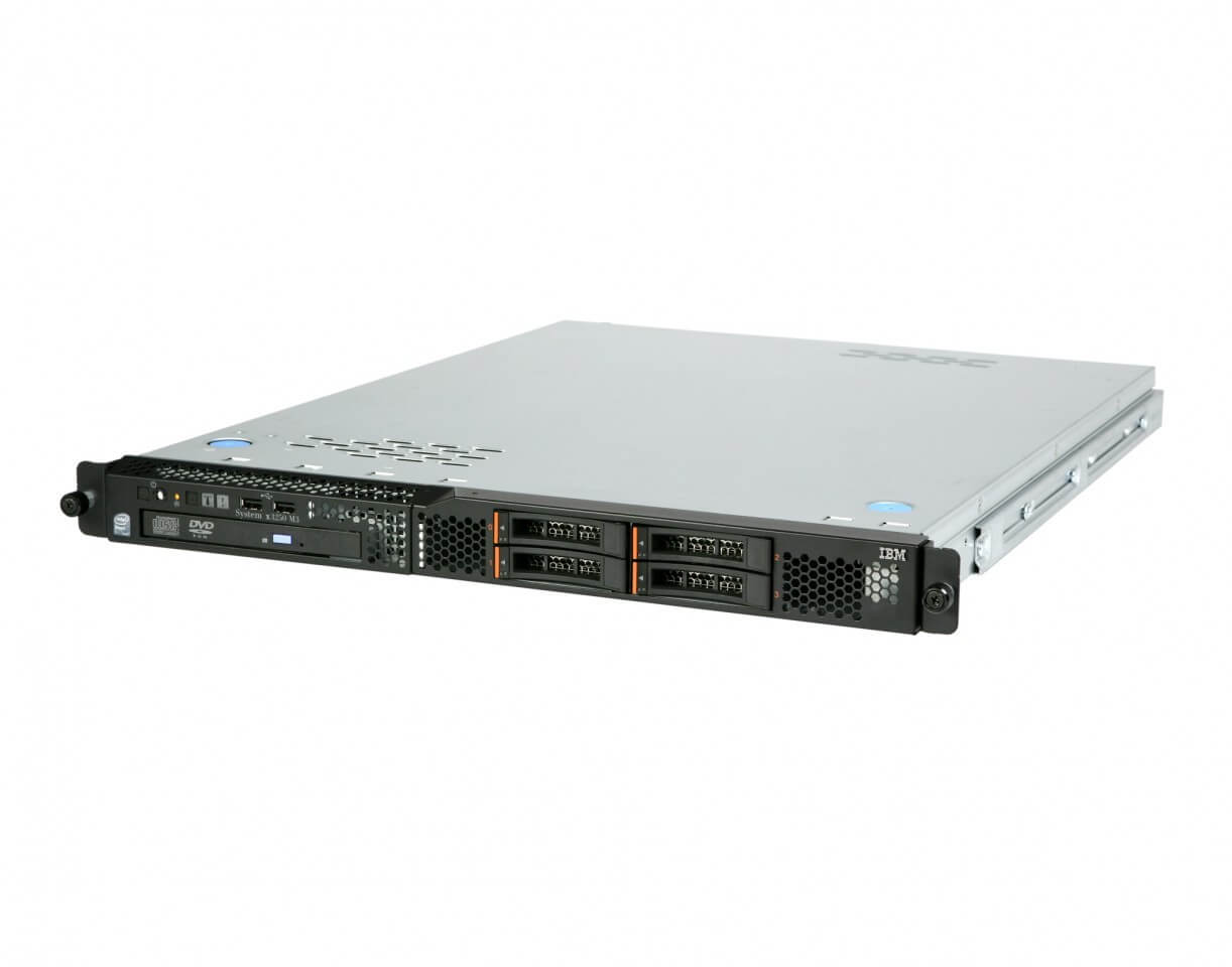 "IBM SYSTEM X3250 M3 XEON QUADCORE X3430 2,4 / 24 GB DDR3 ECC / 2X 250GB SATA 3,5"" / DVDRW / WINDOWS SERVER 2003 R2 COA/ 1U"