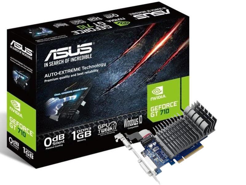 GRAFICKÁ KARTA ASUS GEFORCE GT710 PCI-E 2.0 1GB DDR3 64BIT NOVE HIGH PROFIL