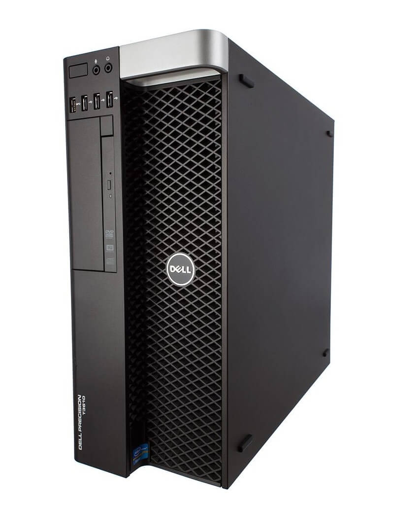 DELL PRECISION T3610 TOWER INTEL XEON E5-1607 V2 3.0 / 16384 MB DDR3 ECC / 1X 240 GB SSD NOWY/ 3X 500 GB / DVD / WINDOWS 10 PRO / NVIDIA QUADRO K2000