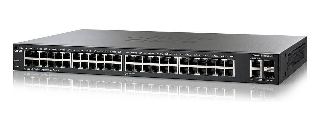 SWITCH CISCO SG200-50 50 PORTÓW 1GBPS