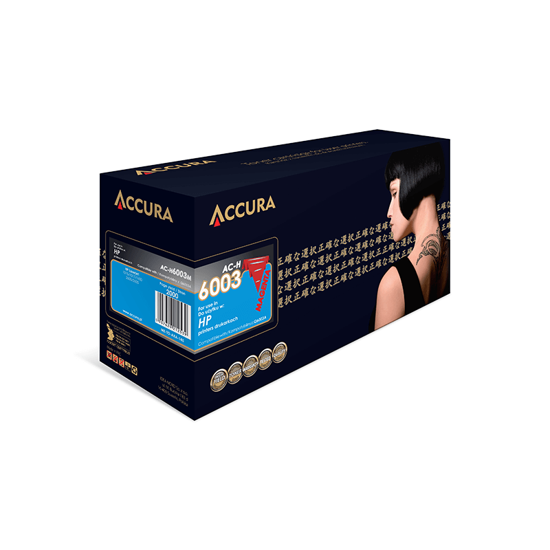 TONER ACCURA HP 6002 AC-H NO.124A YELLOW