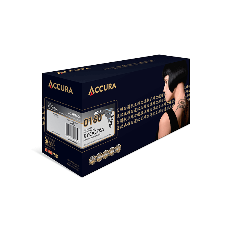 TONER ACCURA KYOCERA 0160 AC-K TK-160 BLACK