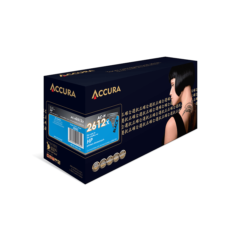 TONER ACCURA HP 2612X AC-H Q2612X BLACK