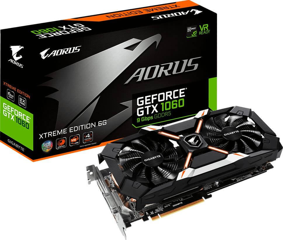 GIGABYTE AORUS GEFORCE GTX 1060 XTREME EDITION 6GB GDDR5 192BIT OUTLET