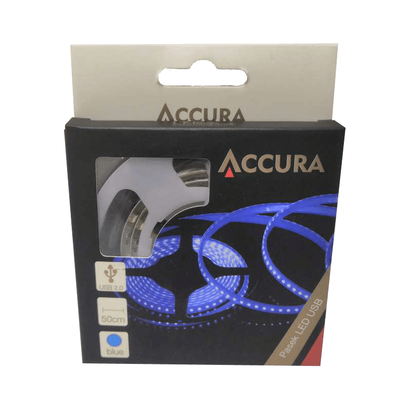 ACCURA PASEK LED BLUE USB 0.5M NOWY