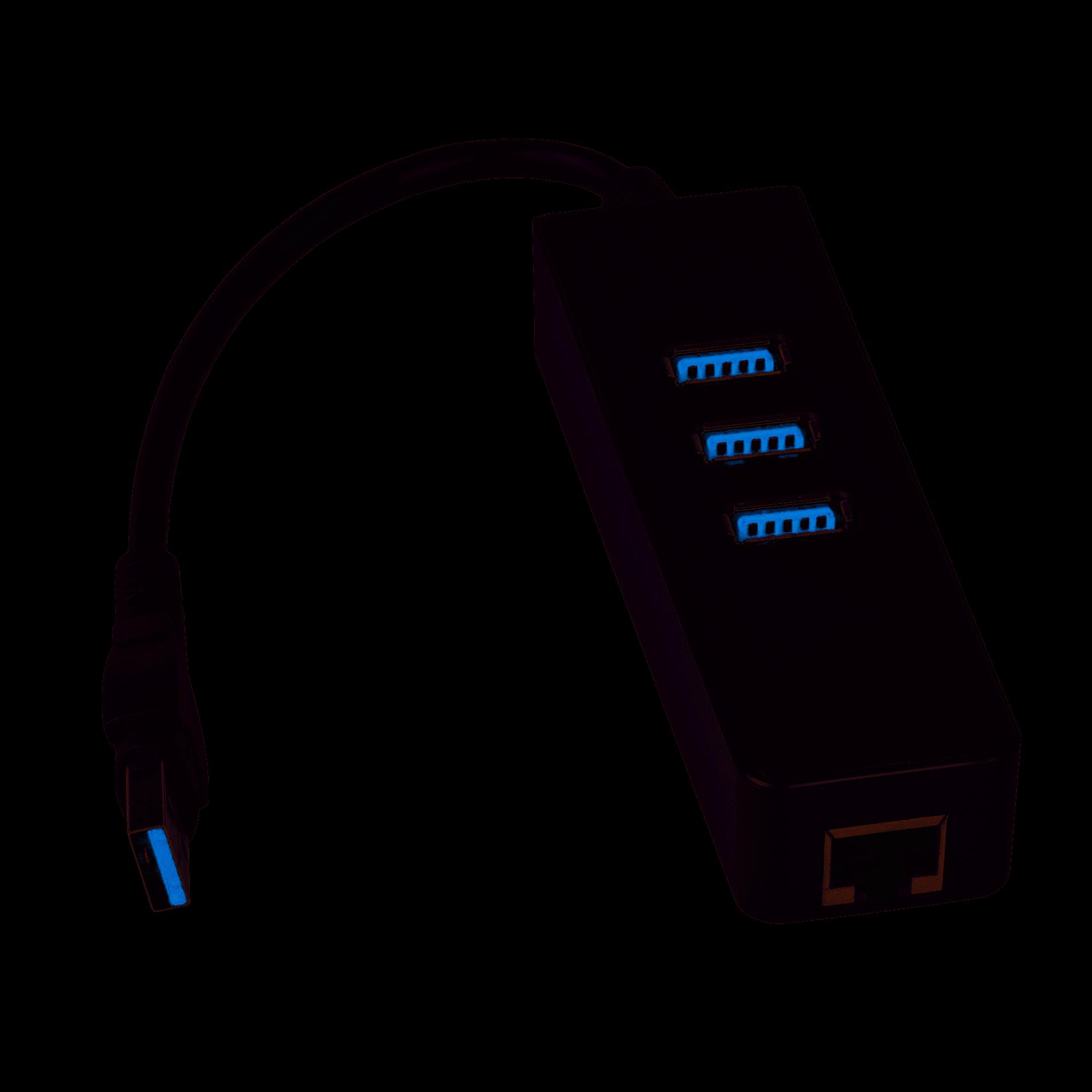 AKYGA HUB USB AK-AD-32 3x USB 3.0 RJ-45 NOVE