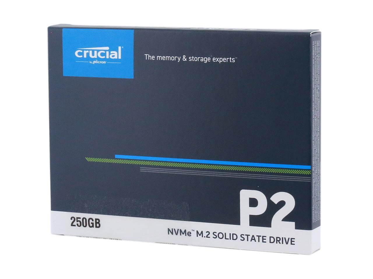 SSD CRUCIAL P2 250GB M.2 PCIE NVME NOVE