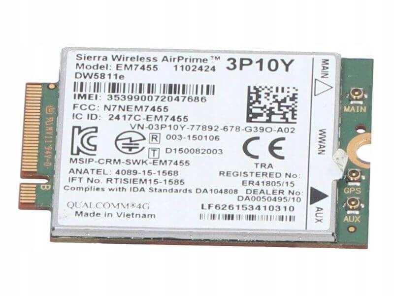 MODEM LTE 4G (WWAN) DW5811E DELL E5570 / 5580 / 3510 / 7720