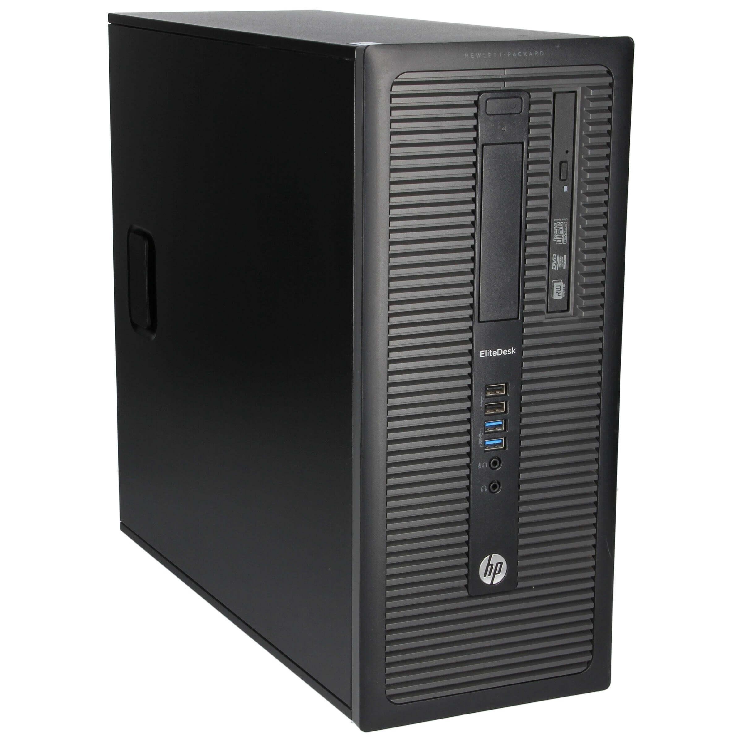 HP ELITEDESK 800 G1 TOWER I5-4590 3.3 / 8192 MB DDR3 / 256 GB SSD + 500 GB / DVD-RW / WINDOWS 10 PRO